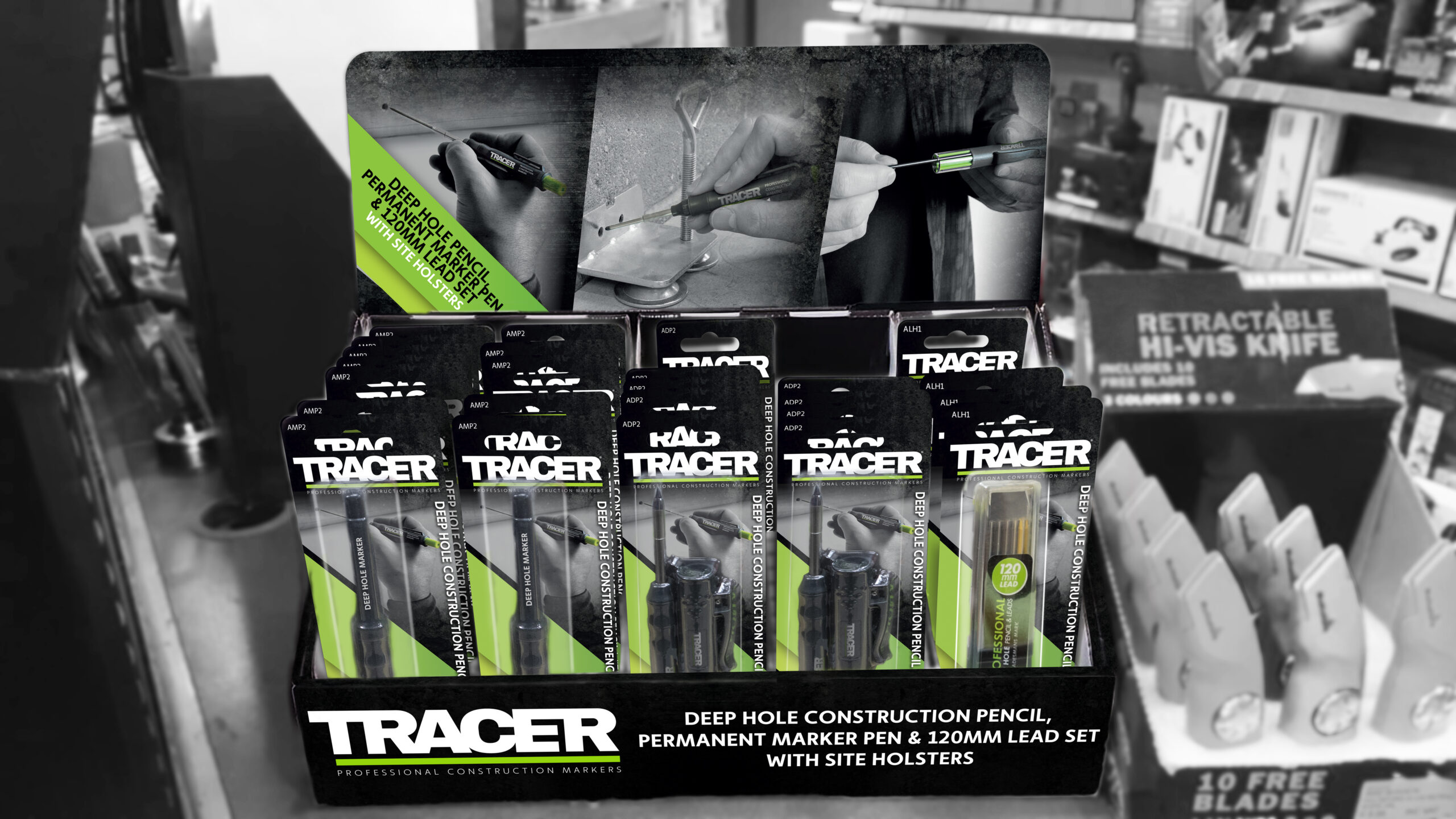 TRACER countertop packaging